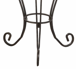"Plant Stand with Glass Top - Garden District ""Bronze/Gold"" - Powell Furniture - 935-267"