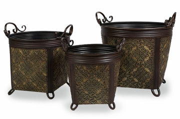 Planters with Handles (Set of 3) - IMAX - 47085-3
