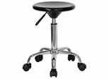 Plastic Adjustable Stool With Polished Chrome Heavy Duty Base - BT-131-2-GG