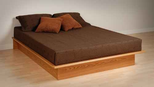Platform Bed - Full Size Platform Bed in Oak - Prepac Furniture - OBD-5475