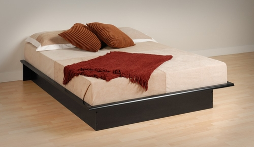 Platform Bed - Queen Size Platform Bed in Black - Prepac Furniture - BBQ-6080
