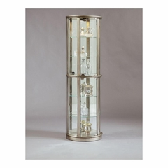 Platinum Cylindrical Glass Door Curio - Pulaski
