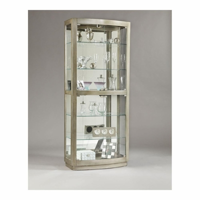 Platinum Rectangular Glass Door Curio - Pulaski