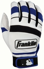 Player Classic II Series Adult Batting Glove White / Royal - Franklin Sports