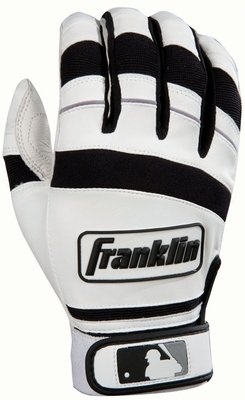 Player Classic II Series Adult Small Batting Glove White / Black - Franklin Sports