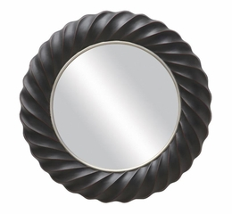 Pleated Round Mirror - 901732