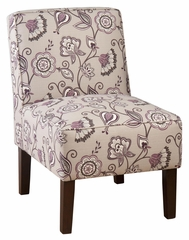 Plum Erica Accent Chair - ERICA-CH-PLUM