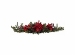 Poinsettia and Berry Centerpiece - Nearly Natural - 4917