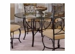 Pompei Metal Dining Table with Non-Tempered Glass Top - 4442DTB