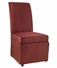 "Poppy Red Velvet Skirted ""Slip Over"" (Fits 741-440 Chair) - Powell Furniture - 741-254Z"