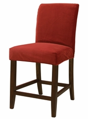 "Poppy Red Velvet ""Slip Over"" for Counter Stool or Bar Stool - Powell Furniture - 742-253Z"