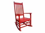 Porch Rocker Chair in Red - R-53641