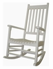 Porch Rocker Chair in White - R-51864