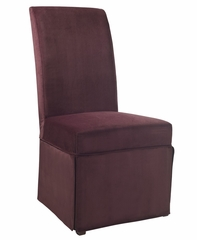 "Port Purple Velvet Skirted ""Slip Over"" (Fits 741-440 Chair) - Powell Furniture - 741-258Z"