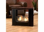 Portable Indoor/Outdoor Gel Fuel Fireplace in Black - Holly and Martin