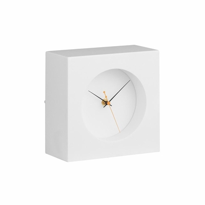 Porthole Black Table Clock - Zuo