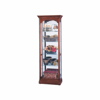 Portland Display Cabinet in Windsor Cherry - Howard Miller