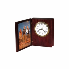 Portrait Book II Table Clock with Picture Frame - Howard Miller