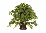 Pothos with Bamboo Vase Silk Plant - Nearly Natural - 6646