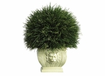 Potted Grass with White Vase in Green - Nearly Natural - 6539
