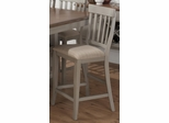 Pottersville Antique Grey Slat Back Stool - Set of 2 - 771-BS814KD