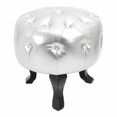 Pouf Round Foot Stool Ottoman - Lumisource