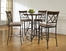 Powell 5 Pc Hamilton Pub Table Set with (4) 697-432 Bar Stools