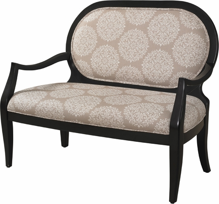 Powell Batik Pearl Black Framed Bench