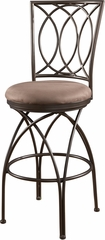 Powell Big and Tall Bar Stool Metal Crossed Legs
