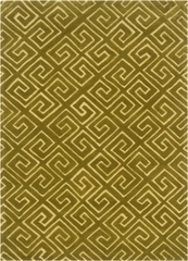 Powell Bombay Fret Yellow Rug 100% Polyester