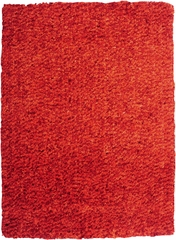 Powell Bombay Luxe Shag Rug Burnt Orange 100% Microfiber