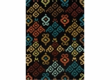 Powell Bombay Rug Ecote Black Native Design