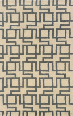 Powell Bombay Rug Interlocking Geometric Channel Ivory