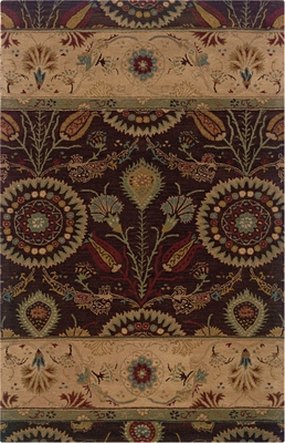 Powell Bombay Rug Kerala Brown Transitional Design