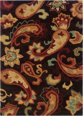 Powell Bombay Rug Palme Brown Hand Tufted