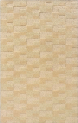 Powell Bombay Rug Zuma Brown Geometric Block Hand Tufted