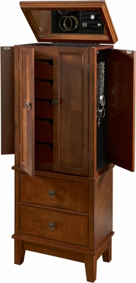 Powell Cherry 4 Door / 7 Drawer Jewelry Armoire