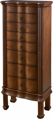 Powell Cherry 7 Drawer Jewelry Armoire