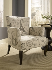 Powell French Calligraphy Wing Chair