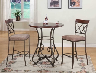 Powell Hamilton Pub Table & (2) 697-432 Bar Stools 3 Pc Set