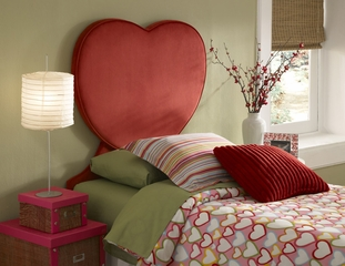 Powell Heart Twin Size Headboard