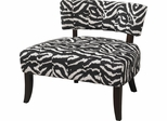 Powell Lady Slipper Zebra Print Accent Chair