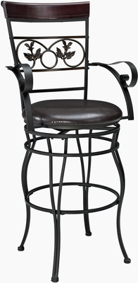 Powell Metal Big & Tall Leaf Bar Stool with Arms