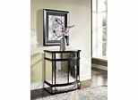Powell Mirrored 2 Door 1 Drawer Console