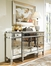 Powell Mirrored 3 Drawer 4 Door Console