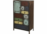 Powell Parcel Cinnamon 1 Door, 10 Drawer Accent Chest