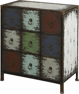 Powell Parcel Cinnamon 9 Drawer Console