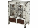 Powell Parcel White 2 Door, 2 Drawer Console