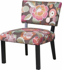 Powell Pink & Brown Floral Accent Chair