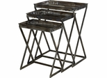 Powell Reflections Set of 3 Nesting Tables